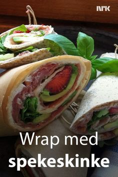 Wraps med spekeskinke, avokado og jordbær. Oppskrift fra Lise Finckenhagen. Wrap Recipes, Tortilla Chips, Tapas, Side Dishes, Food Porn, Food And Drink, Healthy Recipes, Healthy Food, Keto