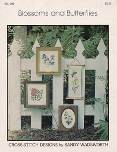 Blossoms and Butterflies,  San Designs Counted Cross Stitch Pattern Booklet 102