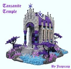 Who says a temple for worshiping the dark one can't be colorful? Minecraft Creations, Cool Lego Creations, Lego Friends, Chateau Lego, Van Lego, Lego Knights, Dark Castle, Lego Pictures, Lego Craft