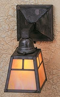 as1 arroyo craftsman aline shade one light wall sconce