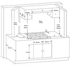 Una cocina con funciones bien delimitadas for Medidas estandar isla cocina