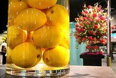 Thinking possibly lemons in vases for centrepieces. Vase Centerpieces, Vases, Club Parties, Mardi Gras, Apples, Floral Arrangements, Wedding Flowers, Dream Wedding, Wedding Ideas
