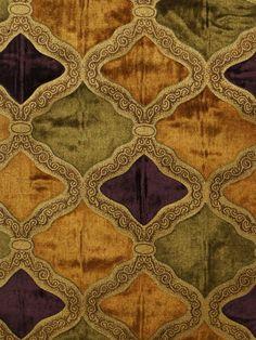 Maia Geometrical Velvet Curtains Fabric Sample (Color: Pansy purple)