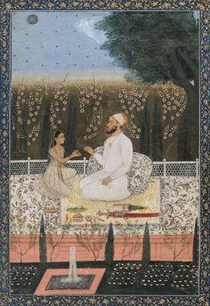 Couple on a Terrace in a Garden (18th century)