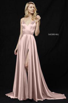Sherri Hill 52119 Sleek V-Neck A-Line Gown