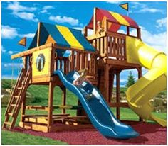 Ashberry Wood Gymset | Backyard play, Outdoor play, Swing set