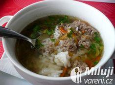 Rychlá polévka z mletého masa s rýží Food And Drink, Ethnic Recipes