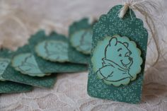 Winnie The Pooh Green Tags Set of 6 by LazyDayCottage on Etsy, $4.50