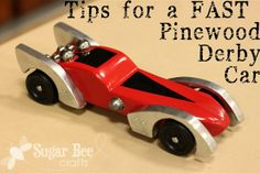 Tips for making the fastest wooden derby car for your kid's next big race!
