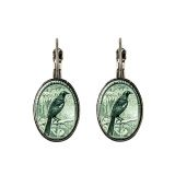 Tui 1935 New Zealand Postage Stamp Earrings. Hypoallergenic in a range of beautiful settings.