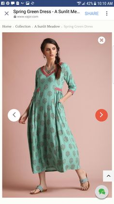 Pakistani Dress Design, Pakistani Dresses, Indian Dresses, Frock Fashion, Fashion Dresses, Stylish Dresses, Casual Dresses, Khadi Kurta, Churidar Designs