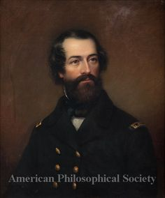1857 painting of Elisha Kent Kane - Philadelphia born naval physician.  Painted by James Reid Lambdin.  (American Philosophical Society)