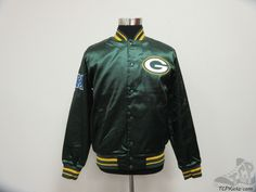 Men's Apparel : Nike Green Bay Packers Satin Snap Up Jacket #GreenBayPackers #tcpkickz