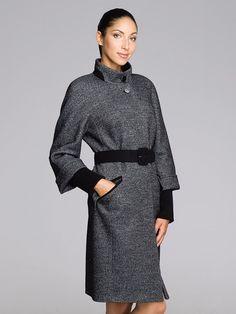 Пальто женское цвет графит, твид, артикул 30127295_2
