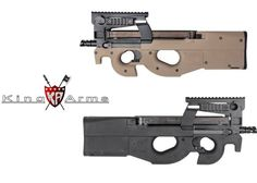 King Arms FN P90 Tactical In Black  Tan