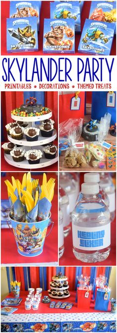 A Skylander Party! Tons of great ideas including decorations, treats, and free printables!