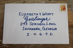 Affordable Calligraphy Handwritten Envelope Addressing - Wedding Event Rehearsal - Daisy Style
