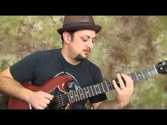 "▶ ""A"" major pentatonic run - easy electric guitar lesson - YouTube"