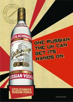 The new Stoli Vodka Advertising Campaign