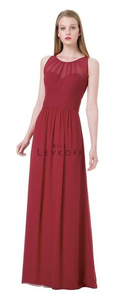 Bill Levkoff Bridesmaid Dress Style 1204 full illusion back with thin keyhole, also in champagne