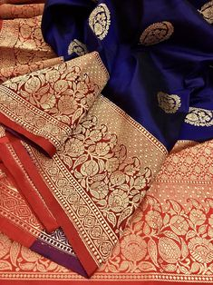 Now make your wardrobe stay updated for every occasion with IndyVogue - your latest fashion stop to buy sarees online. For online saree shopping in India or USA give us a call. Indian Clothes, Indian Outfits, Bridal Sarees South Indian, Silk Saree Banarasi, Maroon Saree, Kinds Of Fabric, Saree Shopping, Wedding Fabric, Navy Blue Color