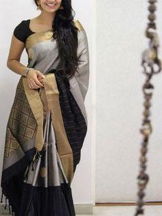 Purchase the Poly Silk Black Saree with Matching Color silk Blouse. It contained of Printed. The Blouse which can be customized up to bust size This Unstitch Saree Length mtr including Modern Indian Saree Click visit link for more details Soft Silk Sarees, Cotton Saree, Georgette Sarees, Kanjivaram Sarees, Satin Saree, Kanchipuram Saree, Ikkat Saree, Lehenga Choli, Cotton Silk