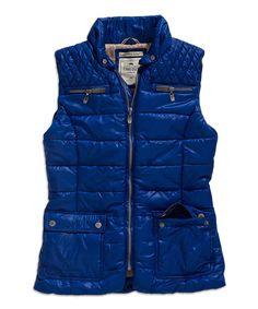 TIMEOUT Crown Blue Puffer Vest by TIMEOUT #zulily #zulilyfinds