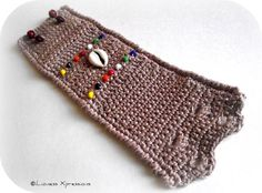 Tribal Crochet Cuff by LionessXpressions on Etsy, $28.00