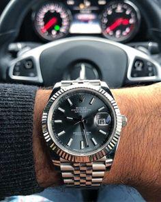 Mercedes x Rolex Datejust on jubilee bracelet. Rolex Datejust, Cool Watches, Rolex Watches, Cheap Watches, Cartier Rolex, Bracelets Design, Hand Watch, Waterproof Watch, Luxury Watches For Men