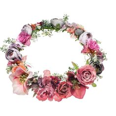 TOPSHOP **Statement Flower Hair Garland by Orelia ($94) ❤ hairliked on Polyvore featuring accessories, hair accessories, headband, crown, extras, multi, flower crown, topshop, head wrap headband and floral garland wedding