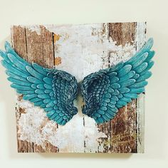 Visit Healing Journeys and Sacred Services on FB for so much more! A worldwide spiritual heal Angel Wings Art, Angel Wings Wall Decor, Angel Art, Angel Wings Painting, Diy Angels, Wing Wall, Wings Drawing, Heart With Wings, Art Projects