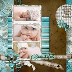 I love this layout and colors - doesn't have to be a baby picture.