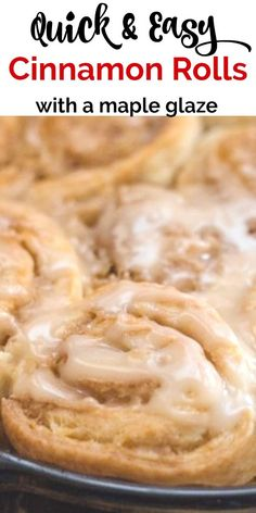 These delicious cinnamon rolls are fast and easy and can be made just in time for breakfast A Maple Sugar glaze makes them perfect A soft homemade no-yeast roll with a brown sugar cinnamon butter filling Healthy Make Ahead Breakfast, Delicious Breakfast Recipes, Savory Breakfast, Sweet Breakfast, Brunch Recipes, Dessert Recipes, Brunch Ideas, Cinnamon Roll Icing, Cinnamon Rolls