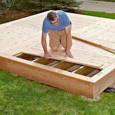 Simple platform deck #deckbuildinghacks