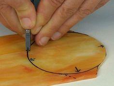 cutting orange circle