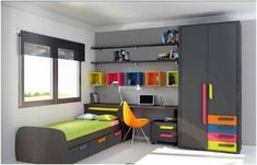 Colors themes and ideas. Bedroom Furniture, Furniture Design, Bedroom Decor, Kids Room Design, Bed Design, Teenage Room, Suites, Boy Room, Girls Bedroom