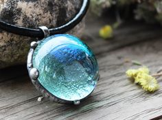 Sky Blue pendantlight blue pendantwater blue pendantfused