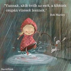 A cute illustration by Susan Batori of a girl and her dog splashing in puddles on a rainy day Halloween Vintage, Dancing In The Rain, Whimsical Art, Cute Illustration, People Illustration, Bob Marley, Rainy Days, Rainy Saturday, Cute Drawings