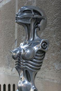 Giger Museum and bar Giger Art, Hr Giger, Abstract Sculpture, Sculpture Art, Metal Sculptures, Bronze Sculpture, Chur, Giger Alien, Alien Art