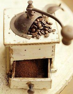 Pull the drawer  Dry little rustle—                        bloom of fresh grounds  ahhh