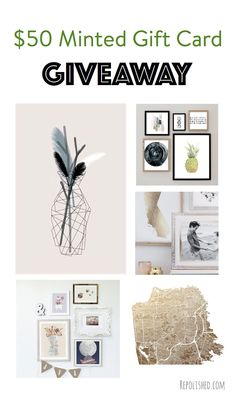 Minted $50 Gift Card Giveaway