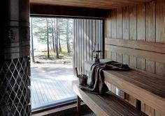 Tunnelmallisimmat mökkisaunat – katso kuvat! | Meillä kotona Sauna Steam Room, Sauna Room, Sauna Wellness, Sauna House, Portable Sauna, Outdoor Sauna, Sauna Design, Finnish Sauna, Spa Rooms