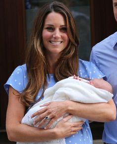 Kate Middleton with her son
