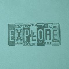 Men's Explore Vintage Plates Creamy Vee