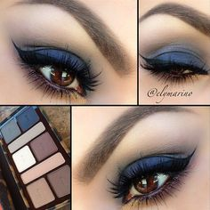 .@doseofcolors | Perfection! Super talented @elymarino created this soft blue smokey look usin...