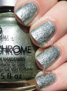 China Glaze Crinkled Chrome Collection Swatches - Wrinkling the Sheets