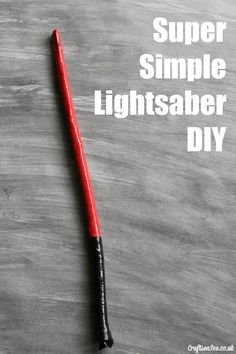 This is the kind of nature craft my kids like! This lightsaber diy is so easy, it's perfect for little Star Wars fans.