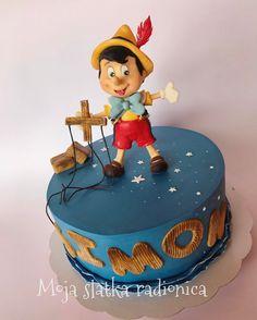 Torta Pinocchio in pasta di zucchero Pinocchio Disney cake sugar