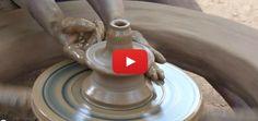 Amazing video of an Indian potter making a deepa (lamp). Bangalore, Karnataka, India