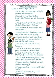 Classroom Procedures and Routines - Back to School Classroom Management A comprehensive list of over classroom procedures, routines and classroom meeting ideas to make the beginning of the year SUPER easy on you! Classroom Meeting, Classroom Routines, Classroom Behavior Management, Classroom Procedures, Future Classroom, School Classroom, School Teacher, Teaching Procedures, Class Management